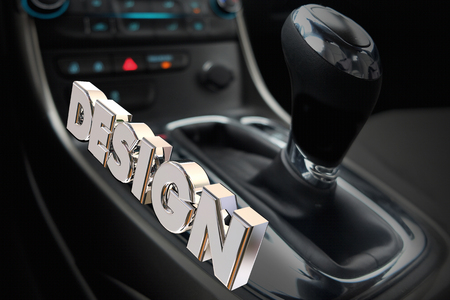 Design Car Interior Gear Shifter Drive Style 3d Illustration