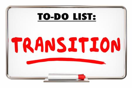 新しい方向を変えるリストへの移行 3 d イラストレーション
