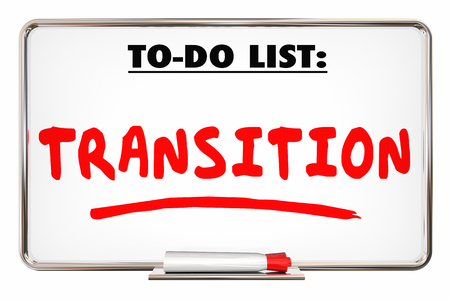 Transition To Do List New Change Direction 3d Illustration Banco de Imagens