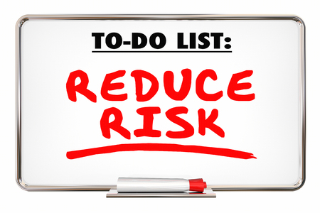 reduce risk: Reduce Risk Safety Prevent Loss Writing Words 3d Illustration Stock Photo