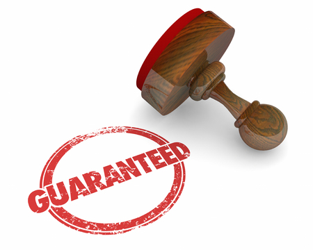 honorable: Guaranteed Stamp Promise Trust Word 3d Illustration Stock Photo