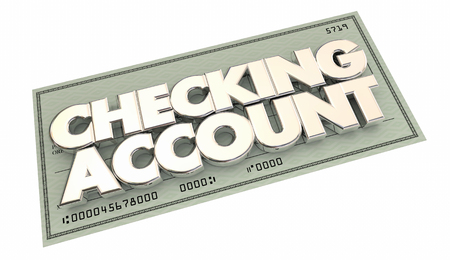 checking: Checking Account Banking Money Words 3d Illustration Stock Photo