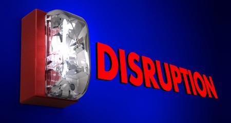 Disruption Fire Alarm Pause Stop Break Interruption 3d Illustration