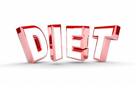 regimen: Diet Word Lose Weight Plan Get Fit 3d Illustration