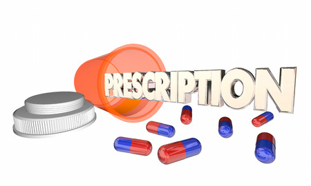 pill prescription: Prescription Medicine Pill Capsule Bottle Medication 3d Illustration