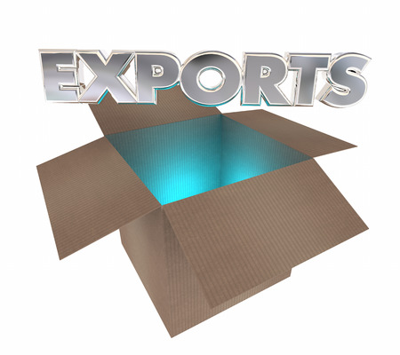 packaged: Exports Cardboard Box International Products Goods Shipment 3d Illustration