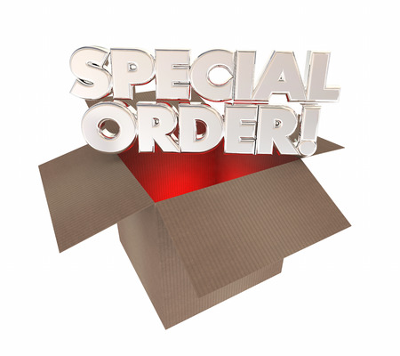made to order: Special Order Custom Product Made for You Box 3d Illustration