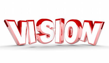 Vision Plan Goal Leadership Word 3d Illustration 写真素材
