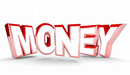 profiting: Money Cash Earning Inome Profit Word 3d Illustration