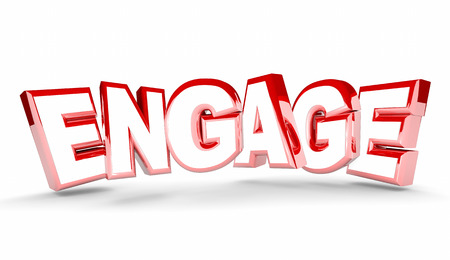 entice: Engage Join Interact Get Involved Word 3d Illustration