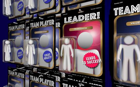 3d manager: Team Leader Motivator Manager Action Figure 3d Illustration Stock Photo
