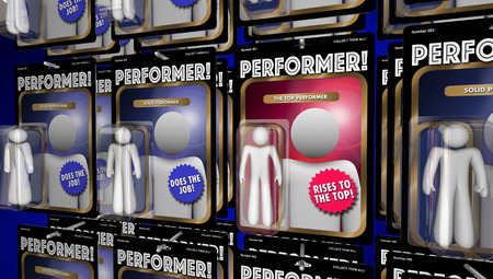 best employee: Top Performer Action Figure Great Performance 3d Illustration