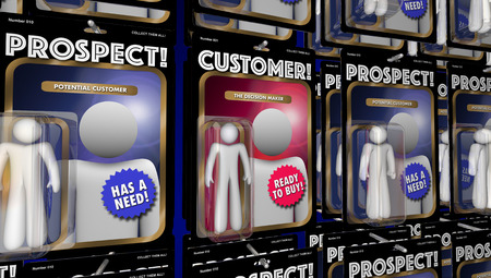 Customer Prospects Action Figures Find New Clients 3d Illustration 免版税图像 - 68584369