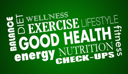 Good Health Nutrition Diet Fitness Exercise 3d Illustration