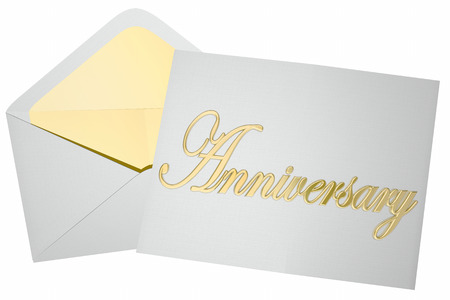 event party: Anniversary Invitation Party Event Envelope 3d Illustration