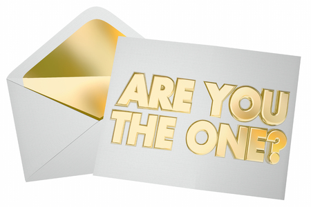 picked: Are You the One Question Envelope Message Picked Selected 3d Illustration