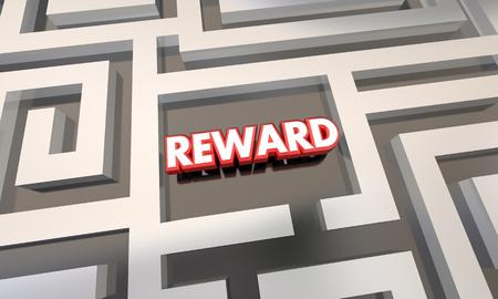 compensated: Reward Work Finished Incentive Maze 3d Illustration