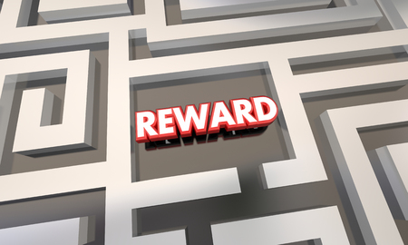 finding your way: Reward Work Finished Incentive Maze 3d Illustration