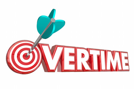 achieved: Overtime Extra Hours Added Work Target Employee 3d Illustration