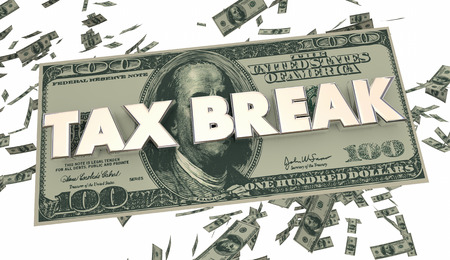 loophole: Tax Break Loophole Money Falling 3d Illustration Stock Photo