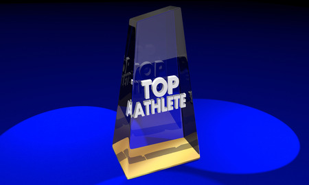 Top Athlete Best Player Award Prize 3d Illustration Stock Photo