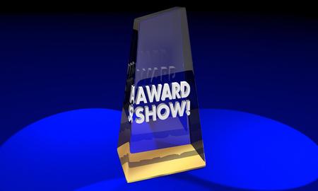 Award Ceremony Presentatie Show Recognition 3d Illustratie Stockfoto