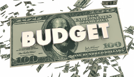 spending: Budget Financial Money Spending Accounting 3d Illustration Stock Photo