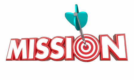Mission Target Goal Met Success 3d Illustration