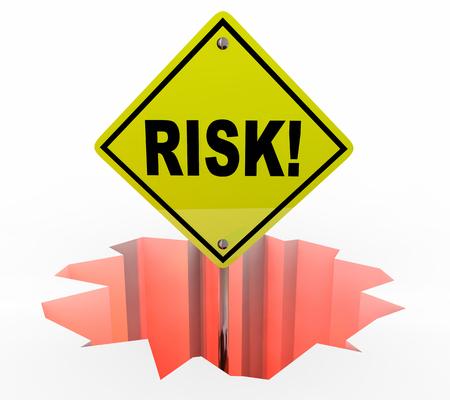 perilous: Risk Liability Danger Warning Sign Protection Prevention 3d Illustration