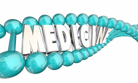 Medicine DNA Genetic Bio Medical Research Therapy 3d Illustration Stock Photo
