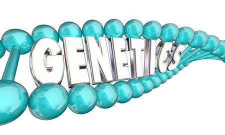 heredity: Genetics DNA Heredity Family Generations 3d Illustration