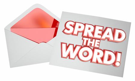Word レター メッセージ メモ封筒を広げる 3 d イラストレーション