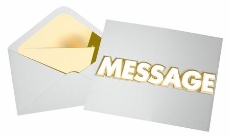 メモ封筒手紙通信のメッセージ 3 d イラストレーション 写真素材