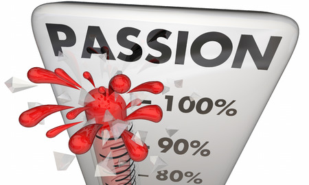 measured: Passion Rising Thermometer Measure Excitement 3d Illustration