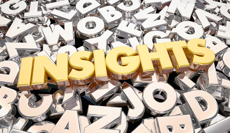 informing: Insights Findings Intelligence Word Letters 3d Animation