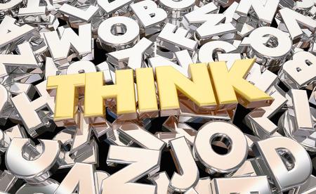 determine: Think Imagine Brainstorm Letters Word 3d Animation