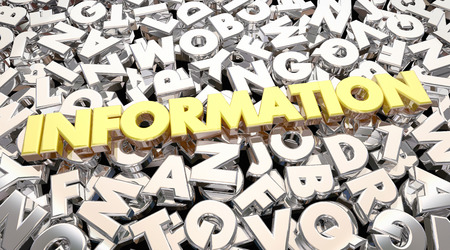 inform information: Information Word Letters Research Find Answers 3d Animation