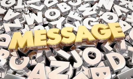 メッセージの単語文字通信 3 d アニメーション