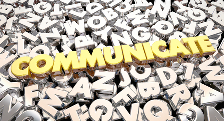 informing: Communicate Word Letters Collage Share Ideas 3d Animation