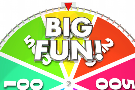exciting: Big Fun Game Wheel Spinning Exciting Entertainment 3d Illustration