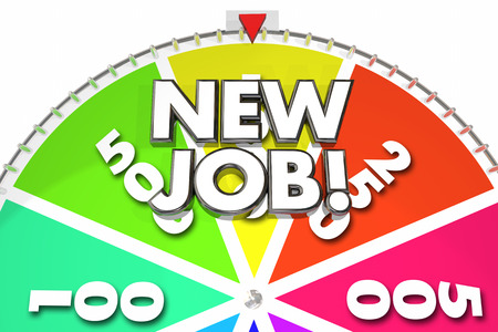 wheel spin: New Job Career Change Win Position 3d Illustration