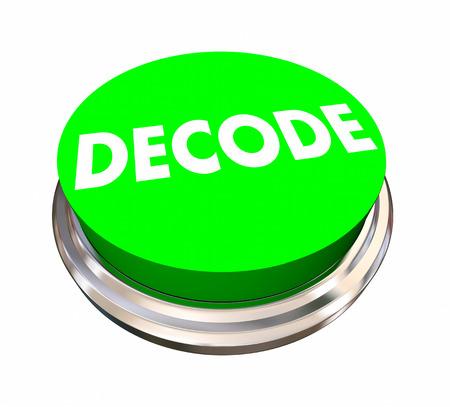 디코드 버튼 암호문 해독 응답은 문제 3D 그림 해결