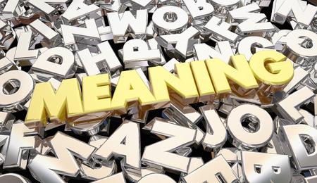 Betekenis van geheime scrambled message letters Word 3d illustratie