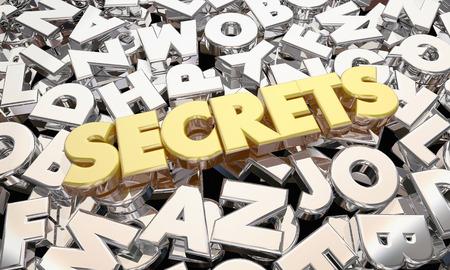 3 d イラスト単語の秘密機密機密個人情報