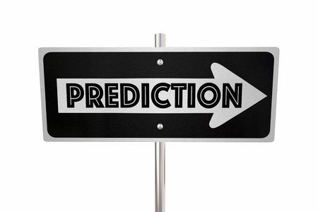 foresight: Prediction One Way Sign Look Ahead Forward 3d Illustration.jpg