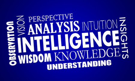 educated: Intelligence Business Knowledge Information Words 3d Illustration
