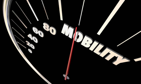 Mobilità tachimetro ago Nuovo Trasporti stradali Illustrazione 3D Archivio Fotografico - 68584784