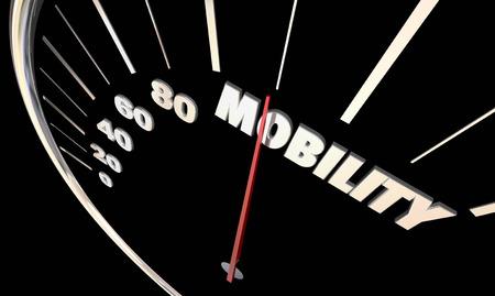 Mobility Speedometer Needle New Transportation Driving 3d Illustration Stock Photo