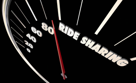 Rideshare Carpool Gear Shift Vehicle Car 3d Illustration