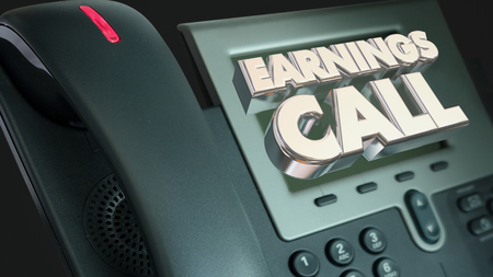teleconference: Earnings Call Financial Results Telephone 3d Illustration
